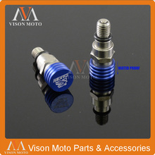 M5 0.8MM Blue Fork Air Bleeder Relief Valve For Yamaha YZ85 125 YZ250 YZ250F YZ450F WR250F WR450F Dirt Bike Motorcycle Motocross(China)