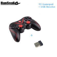 T3 Smart Phone Game Controller Wireless Joystick Bluetooth 3.0 Android Gamepad Remote Control for phone PC Tablet+USB Receiver(China)