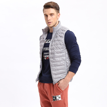 Celucasn D Brand New 2017 Mens Down Vest Jackets Stand Collar 80% Down Fillers Sleeveless Ribbon Cuff Pure Color U6QI9025(China)