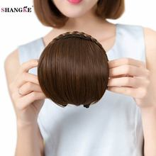 Buy SHANGKE Short Braid Blunt Bangs Natural Tidy Hairpieces Heat Resistant Synthetic Women Hair 2 Styles Available Natural Fake Hair for $5.72 in AliExpress store