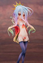Newest Anime Aquamarine NO GAME NO LIFE Shiro Swimming suit ver.1/7 Scale Sexy figure PVC Action Figure Collectible Model Toy(China)