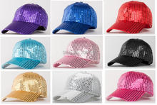 NEWEST Sequins hat / baseball cap  / color can MIXED+ WHOLESALE+EMS/DHL  free shipping