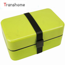 TRANSHOME New Japanese Children's Bento Candy Meal Box Student Mini Solid Green Food Grade Creative Sushi Box Food Container(China)