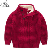 I.K Boys Sweater For Autumn Winter Warm Cotton 2017 Fashion Three Colors Children Baby Boys Handsome Turtleneck Red Tops SH1005(China)