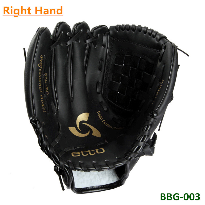 High Quality 11.5 12.5 Inch Black Fast Pitch PU Softball Glove Outdoor Sports Baseball Pitcher Gloves for Right Hand player<br><br>Aliexpress