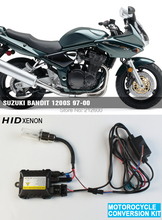 motorcycle moto xenon kit Headlight motorbike hid lights ballast for SUZUKI Bandit 1200S 97-00 3000K,4300K,6000K,8000K,10000K