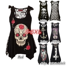 Buy 2017 Women Summer Vest Dress Brand New Plus Size 5XL Sexy Hollow Skull Short Dress Gauze Perspective Mini Irregular Dresses for $8.51 in AliExpress store