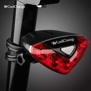 CoolChange Vélo Arrière Tail Red light LED Flash Lumières Vélo Nuit Avertissement de Sécurité Lampe De Vélo En Plein Air feu arrière Accessoires