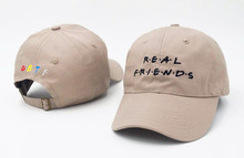 2017  Real Friend Embroidery Baseball Caps Women Winter Hat for men Dad Hat Fishing Hockey Golf Snapback Cap Hip Hop Casquette