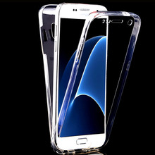 "For Samsung Galaxy S8 5.8"" /S8 Plus 6.2"" Full Body Clear TPU Soft Front Touch Screen Case Touch Transparent Front + Back Cover"