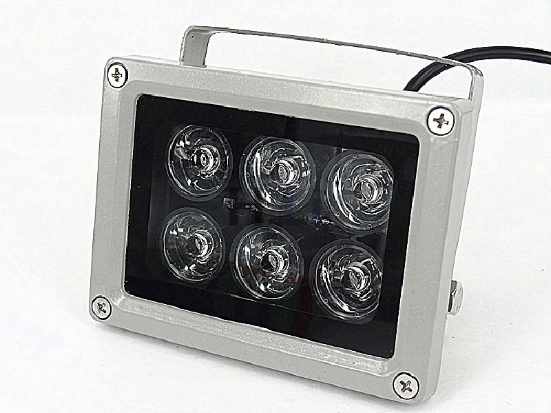 60m IR distance 6 Leds IR Illuminators Light IR Infrared Light LED CCTV Camera Night-vision Fill Light for CCTV Security Camera<br>