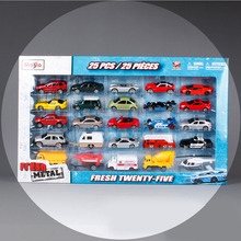 25pcs/set 1:64 Brand Maisto children Die cast model racing car helicopter mixer  metal voiture miniature collectible gifts toys