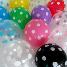 Buy 50pcs 12inch Latex Transparent Balloons Polka Dot Colored Wedding Birthday Party Balloons Decoration Globos Air Balls Baloons for $6.52 in AliExpress store