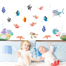 Find Nemo Dory Fish Sealife Wall Stickers for Kids Room Decoration Cartoon Movie Wall Decals Art Children Birthday Gift