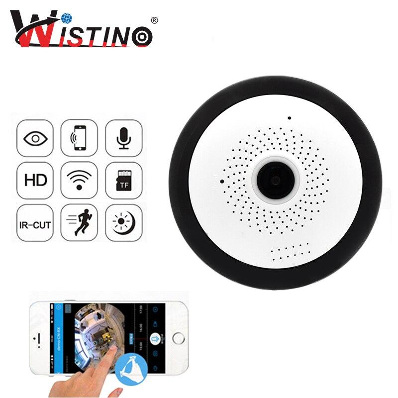 Wistino WIFI IP Camera Fisheye 960P Panoramic Baby Monitor Wireless Mini 360 Degree CCTV Camera 3D VR Video Cam Surveillance<br>