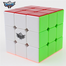 3x3x3 Cyclone Boys Magic Cube Puzzle Cubes Speed Cubo Square Puzzle No Sticker Rainbow Gifts Educational Toys for Children(China)