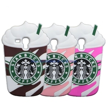 Cute Starbuck Case For Galaxy S3 mini i8190 3D Ice Cream Soft Cover For Samsung Galaxy Trend Plus S7580 S7582 Coffee Cup Cases