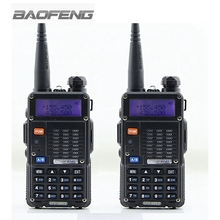 2 pcs BAOFENG UV-5RT Walkie Talkie Black 128 Memory Channels Dual Band VHF / UHF 136-174 / 400-520MHz Ham Two Way Radio