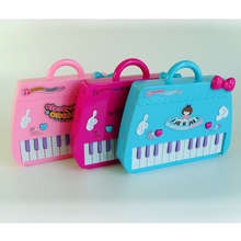 1set Cute Pink Bag Baby Kids Musical Educational Piano Cartoon Develop Intelligence Children Xmas Birthday Gifts Toys