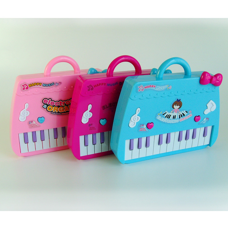1set Cute Pink Bag Baby Kids Musical Educational Piano Cartoon Develop Intelligence Children Xmas Birthday Gifts Toys(China)