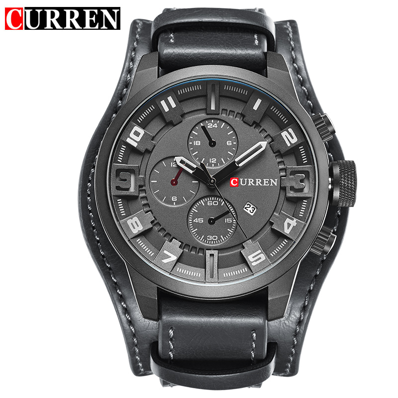 Curren Mens Casual Sport Quartz Watch Mens Watches Top Brand Luxury Quartz-Watch Leather Military Watch Wrist Male Clock 8225<br><br>Aliexpress