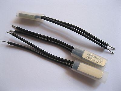 200 pcs KSD9700 Bimetal Temperature Switch 60C NC Hot Sale Normal Close<br>