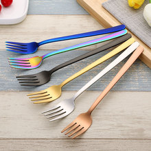 304 stainless steel long handle dinner fork hotel product 6pcs/set hotel restaurant party supplies