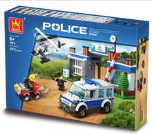 6 Styles Building Blocks Super Police Station Patrol Wagon DIY Toys Children Birthday Present Intelligence Creative Plaything
