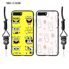 SpongeBob Rabbit case for Iphone 7 7plus 6 6s 6splus for Apple 5se fashion phone cases soft shell cover with free hang ropes bag