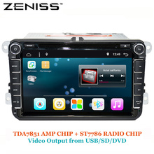 ZENISS Android DVD Car for VW GOLF CAR DVD for PASSAT B6 B5 JETTA POLO CC TIGUAN OCTAVIA DVD ANDROID 6.0 GPS 801