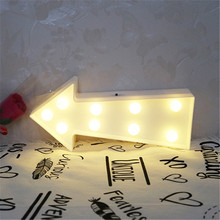 White arrows LED 3D Night Light Atmosphere Nightlight Marquee Desk Table Lamp Letter For Kids Gift Decoration 060911