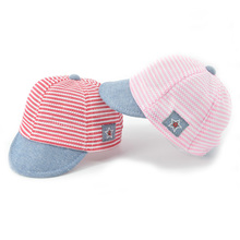 2017 Summer Cotton Infant Baby Hats Cute Casual Striped Soft Eaves Baseball Cap Baby Boy and Girls Sun Protect Hat XH-031