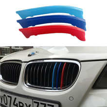 3D M Styling auto Front Grille Grills Trim Sport Strips Cover Stickers for 2009-2012 BMW 3 Series E90 320i 325i 328i 330i 335i