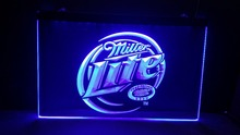 jb-67 Miller Lite Beer Displays logos LED Neon Light Sign(China)