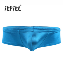 Buy iEFiEL Mens Lingerie Sexy Panties Gay Bulge Pouch Low Waist Bikini Briefs Underwear Underpants Jockstraps Costume Party Gifts