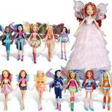 2017 Newest Winx Club Doll rainbow colorful girl Action Figures Fairy Bloom Dolls Draculaura Frankie Stein Clawdeen Wolf(China)