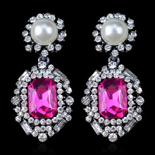 Brincos Ohrringe Phone 3pair wholesale USA style Bohemia Earring Mixcolors CA New of  Pearl pink gem Earrings  for women jewelry
