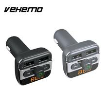 12-24V Dual USB Port Bluetooth Handsfree Cars Charger Adapter MP3 Music Player LED Digital Display High Quality Car-styling