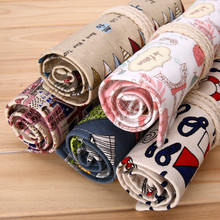 36/48/72 Holes Canvas Pencil Case Roll Up Sketch Painting Pen Stationery Escolar Estuche Stationery Cute Estojo Portable Gifts(China)
