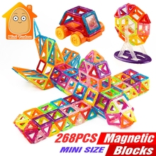 Minitudou 268PCS Mini Magnetic Building Blocks Toys Construction Bricks Set DIY Educational Toy Magnet For Kids(China)