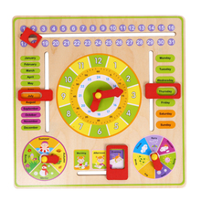 1 Pc Multifunctional Cartoon Wooden Clock Toy Cognitive Calendar Season Date Children Educational Toy Early Learning Puzzle Toys