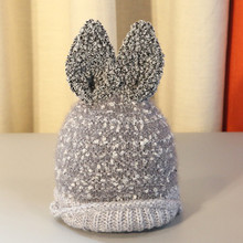 Baby Hat Snowflake Wool Baby Beanie Rabbit Ear Hat Children Knitting Hats Winter Hats For Girls Gorro Infantil(China)