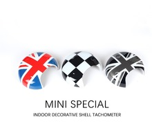 For Mini Cooper Tachometer Cover Stickers Union Jack Car Interior Decoration Accessories for R55 R56 R57 R58 R59 R60 Countryman(China)