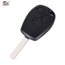 DANDKEY 10pcs x 3 Button Remote Key Fob Shell For Renault Scenic Clio Modus Laguna Megane Keys Cover Case Free Shipping(China)