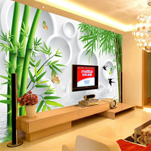 beibehang Water bamboo swallow background Photo Wall paper for living room sofa bedroom mural wallpaper contact paper flooring