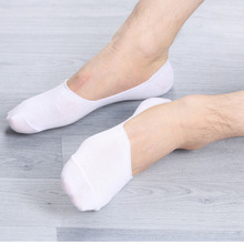 1 Pairs Women Men Soft invisible socks Low Cut Casual Cotton Loafer Boat Non-Slip Invisible No Show Socks Spring Summer Styles(China)
