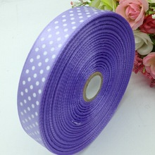 Real Hl 1 Roll (50yards) 18mm Width Printed Dots Satin Ribbon Wedding Party Decoration Crafts Making Bows Diy Accessories A935