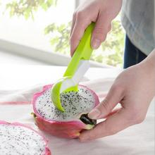 Good Quality Plastic Ice Cream Spoon Spring Handle Masher Cookie Scoop Muffin Fruit Spoons Kitchen Cooking Tools(China)