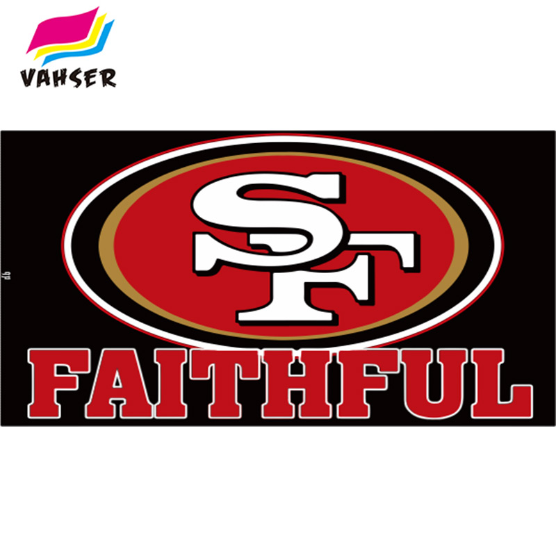 BLACK 49ER FAITHFUL Flag Exclusive 3x5ft 100% Polyester Printed Flags & Banners Home Decoration And Sports Flags Free Shipping(China (Mainland))