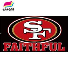 BLACK 49ER FAITHFUL Flag Exclusive 3x5ft 100% Polyester Printed Flags & Banners Home Decoration And Sports Flags Free Shipping(China)